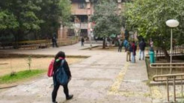 A view of the Jawaharlal Nehru University campus in New Delhi.(Amal KS/HT Photo)