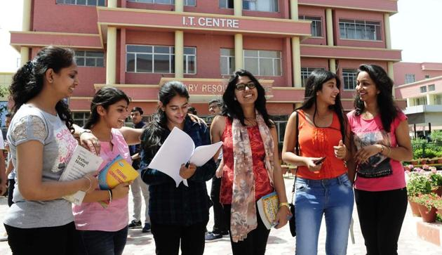 Safety protocols need to be in place if college and university students have to write the final exams.(Keshav Singh/HT Photo)