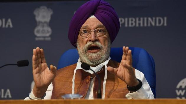 Civil Aviation Minister, Hardeep Singh Puri said Kerala is the pioneer as far as airports under Public Private Partnership are concerned.(HT PHOTO.)