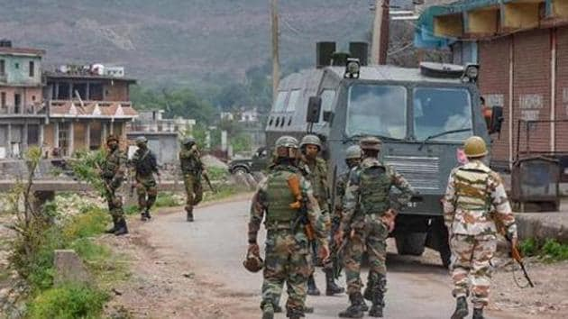 Indian Army personnel in Poonch district, Jammu and Kashmir(PTI)