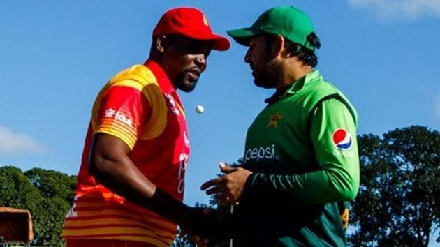 Zimbabwe and Pakistan played each other during the 2018 tri-series.(Twitter/ Zimbabwe Cricket)