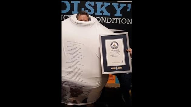 The record created by a man named Ted Hastings.(Instagram/@guinnessworldrecords)