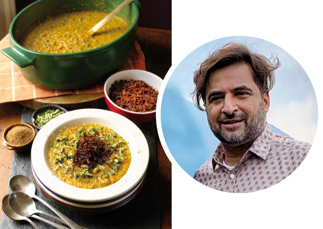 Chef Suvir Saran (inset) says that the nutty flavour in his Birbal ki khichri comes from frying the moong dal.