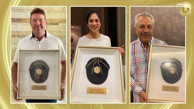 Jacques Kallis, Lisa Sthalekar and Zaheer Abbas.(ICC)