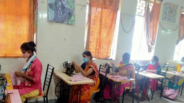 Women are stitching masks to earn livelihood during pandemic