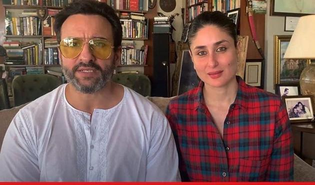 Saif Ali Khan and Kareena Kapoor Khan recently shot for a project at home.
