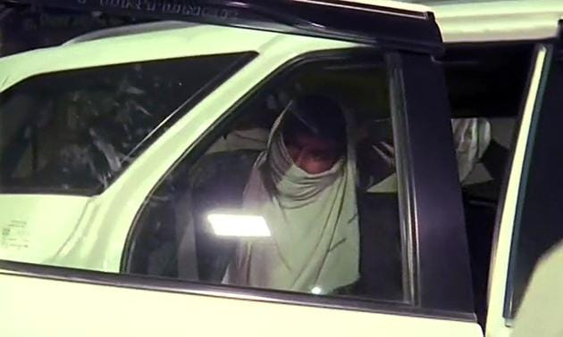 Suspected ISIS operative Mohammed Mushtaqeem Khan is seen in his native village in Uttar Pradesh's Balrampur on Saturday.(ANI Photo)