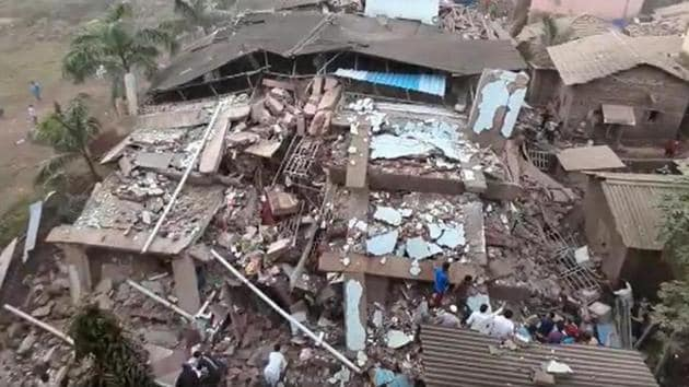 The multi-storey building, which was 10 years old, housed over 40 apartments.(File photo/Screengrab)