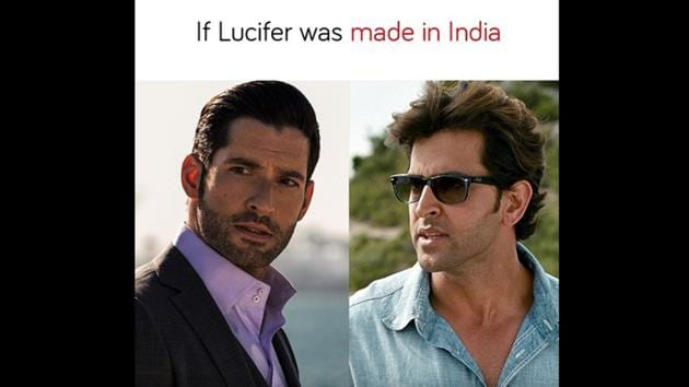 For the main character, Lucifer, Netflix India chose Hrithik Roshan(Twitter/@netflix_in)