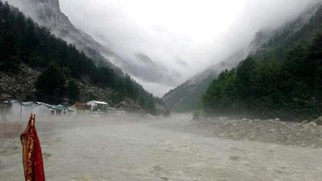 """Bhagirathi river at Gangotri in Uttarkashi district.One of the main concerns raised by the panel is that the ZMP was to be prepared specifically """"in consultation with local people, particularly women"""". (Santosh Bhatt/HT photo)"""