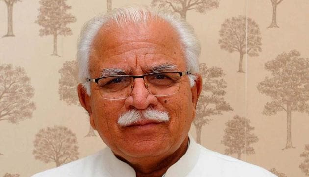 Haryana chief minister Manohar Lal Khattar had gone into home isolation after Union water resources minister Gajendra Singh Shekhawat and certain officials posted at the CM's residence in Chandigarh tested positive.(HT FILE)