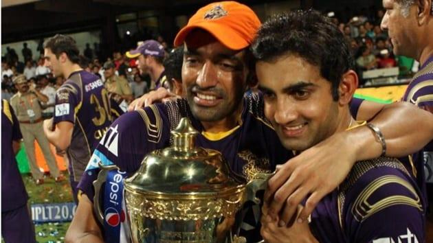 File image of Gautam Gambhir celebrating IPL win.(IPL)