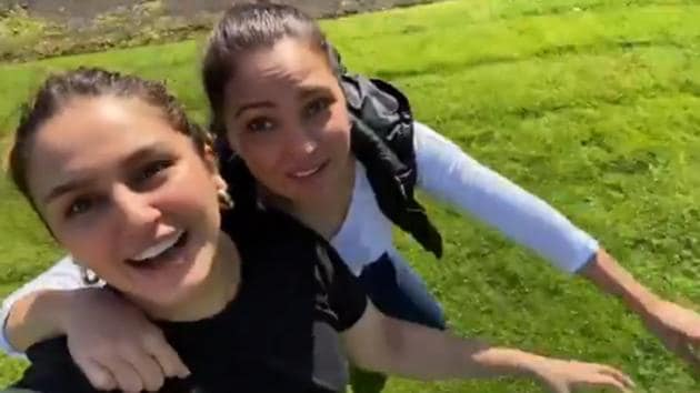 Lara Dutta and Huma Qureshi are in Scotland with the rest of the team of Bell Bottom for a shoot.