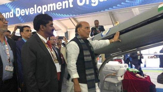 A DRDO delegation met defence minister Rajnath Singh on Monday and briefed him on the 108 defence items identified for local production by the industry to achieve self-reliance in the defence sector. (Photo: @DRDO_India)