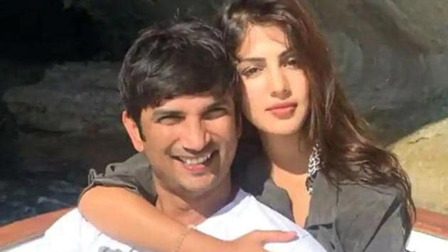 Rhea Chakraborty with Sushant Singh Rajput, who died on June 14.