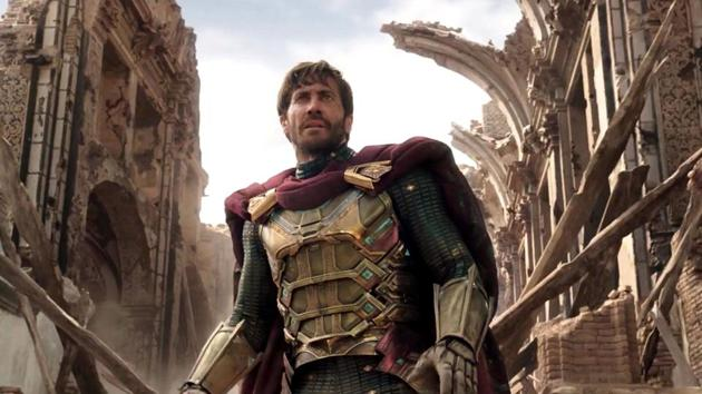 Jake Gyllenhaal as Mysterio in a still from Spider-Man: Far From Home.