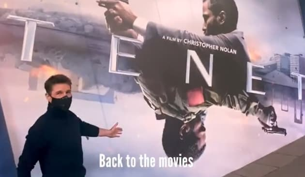 Tom Cruise watched Tenet in London.