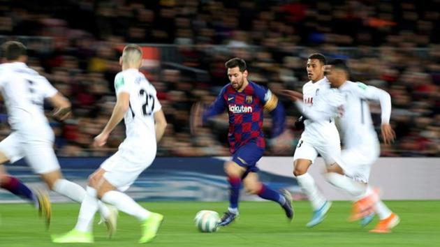 FILE PHOTO: Soccer Football - La Liga Santander - FC Barcelona v Granada - Camp Nou, Barcelona, Spain - January 19, 2020 Barcelona's Lionel Messi in action REUTERS/Albert Gea/File Photo(REUTERS)