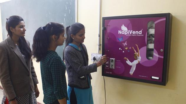 Representative image of a pad vending machineD(Yogendra Kumar/HT PHOTO)