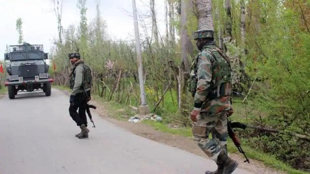 Security forces launched a joint search operation in Kilora area in south Kashmir after receiving information about suspected presence of terrorists in an orchard.(File photo for representation)