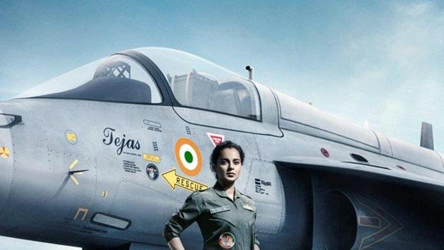 Kangana Ranaut essays the role of an Indian Air Force pilot in Tejas.