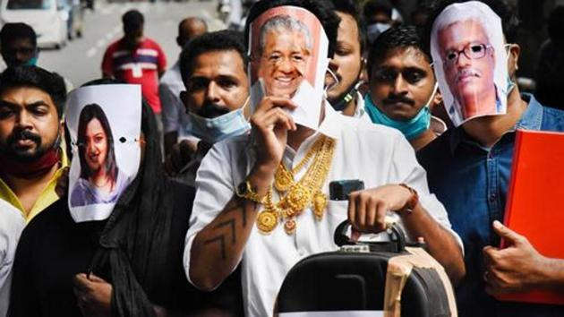 Opposition has built up pressure on Kerala government alleging involvement of high profile officials in the gold smuggling case.(PTI Photo)
