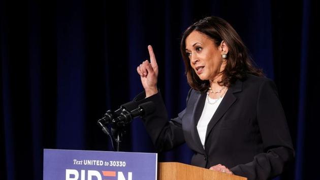 Kamala Harris, 55, is the running mate of Democratic presidential candidate Joe Biden.(Reuters Photo)