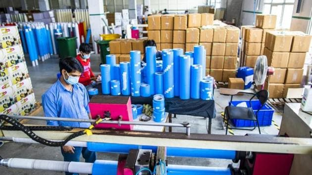 Manufacturing is picking up and has been close to the benchmark level in the last two months.(Bloomberg Photo)