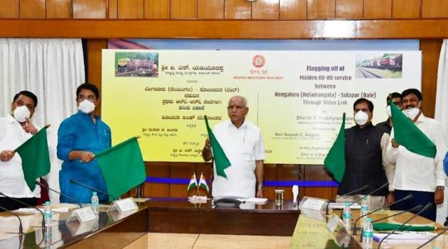 Yediyurappa said RORO is a hassle-free and environment-friendly service.(@BSYBJP/Twitter Phot o)