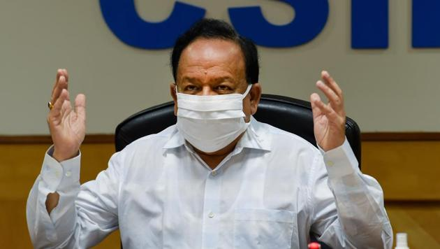 Union Health Minister Dr. Harsh Vardhan said that the health officials had held a meeting much before the first Covid-19 case was reported in India.(PTI)