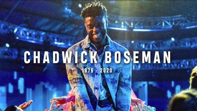 In this video grab issued Sunday, Aug. 30, 2020, by MTV, a tribute to the late actor Chadwick Boseman appears on screen during the MTV Video Music Awards. (MTV via AP)(AP)