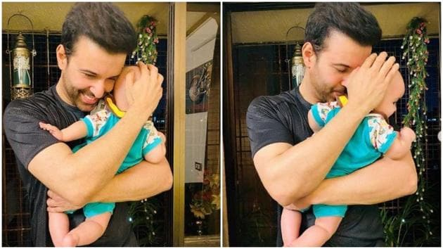 Aamir Ali with his daughter.