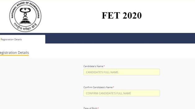 NBE FET 2020.(Screengrab)