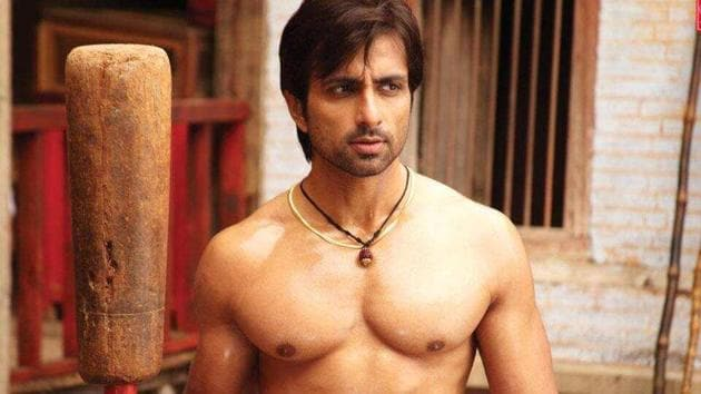 Sonu Sood in a still from Dabangg where he played the villain.