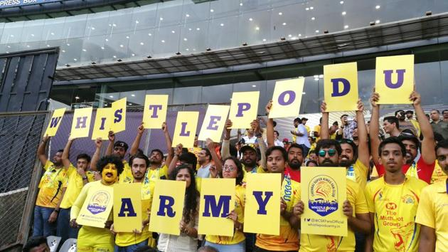 Despite being aware that they may not get to see their favourite guys in action this year, the Whistle Podu Army hasn't allowed the setback to affect their enthusiasm levels.(Whistle Podu Army/Special Arrangement)