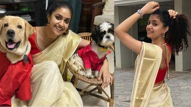 Keerthy Suresh has shared a tonne of pictures on Instagram.
