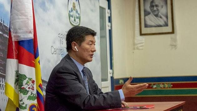 "Lobsang Sangay was esponding to Xi Jinping's remarks about building ""an impregnable fortress"" in Tibet.(HT Photo)"