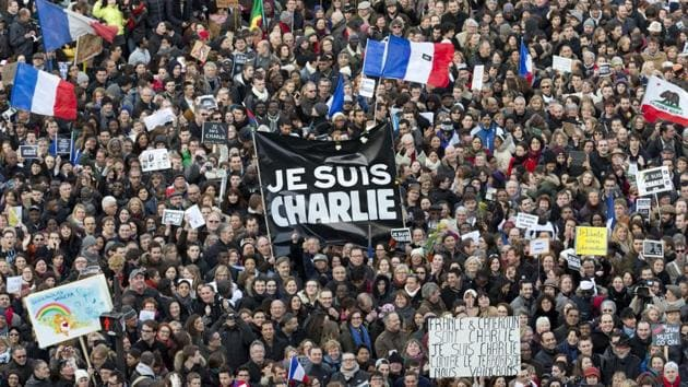 Thousands of people gather at Republique Square in Paris against 2015 attacks against Charlie Hebdo and, two days later, a kosher supermarket,(AP file photo)