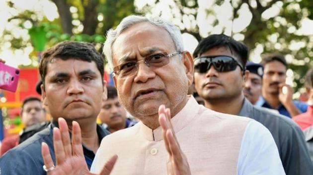 Nitish Kumar's JD (U) has drawn more than a dozen RJD lawmakers so far ahead of the assembly election in Bihar.(PTI FILE PHOTO)