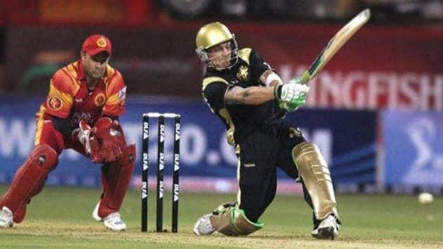 Brendon McCullum against RCB in IPL 2008(KKR/twitter)