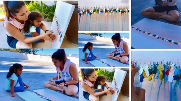 Sunny Leone has shared a video which shows her and daughter Nisha painting.