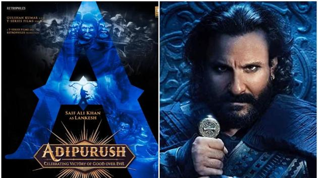 Saif Ali Khan will play Lankesh in Adipurush; (right) in his menacing avatar in Tanhaji: The Unsung Warrior.