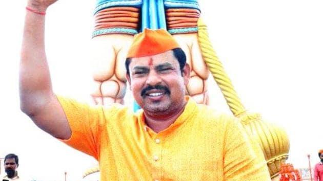 File photo of BJP's lone Telangana MLA T Raja. (Photo @TigerRajaSingh)