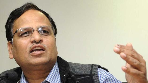 File photo of Delhi health minister Satyendar Jain.(Hindustan Times)