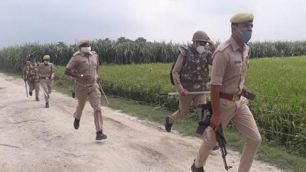 Four teams have been conducting a combing operation in the fields to arrest the suspect who has most likely hidden there.(Police media cell)