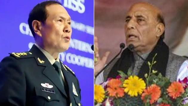 The meeting between two defence ministers is crucial as Rajnath Singh is number two in the Narendra Modi government and a former BJP president, Gen Wei, a former missile force commander, is a state councillor and member of the all-powerful Central Military Commission.(PTI)
