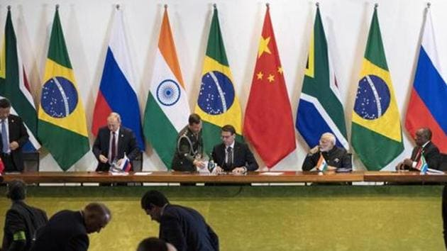 The joint statement issued after a virtual meeting of Brics foreign ministers didn't refer to any particular conflict, and the grouping has a convention of not taking up bilateral issues between its members. However, the meeting was held against the backdrop of the months-long border standoff between India and China, two of the grouping's key members.(AP PHOTO.)