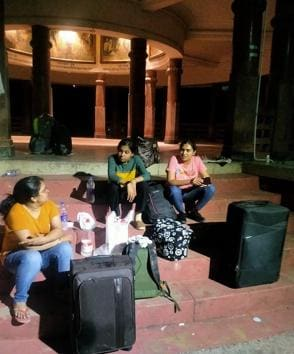 Students have been protesting even late in the night, for not getting entry in the hostels.