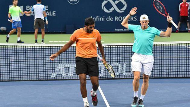 Bopanna and Shapovalov will next play sixth seeds Kevin Krawietz and Andreas Mies.(Getty Images)
