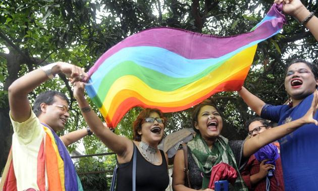 The LGBTQI+ were jubilant after the SC verdict in 2018, which abolished penalisation of people for their sexual orientation and ordered that gay sex among consenting adults is not an offence.(Photo: Samir Jana/HT (Photo for representational purposes only))